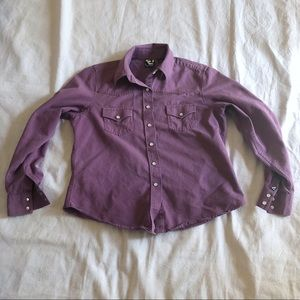 Rockies western button up shirt with pearl snaps